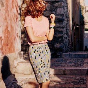 Boden Richmond Print Pencil Skirt